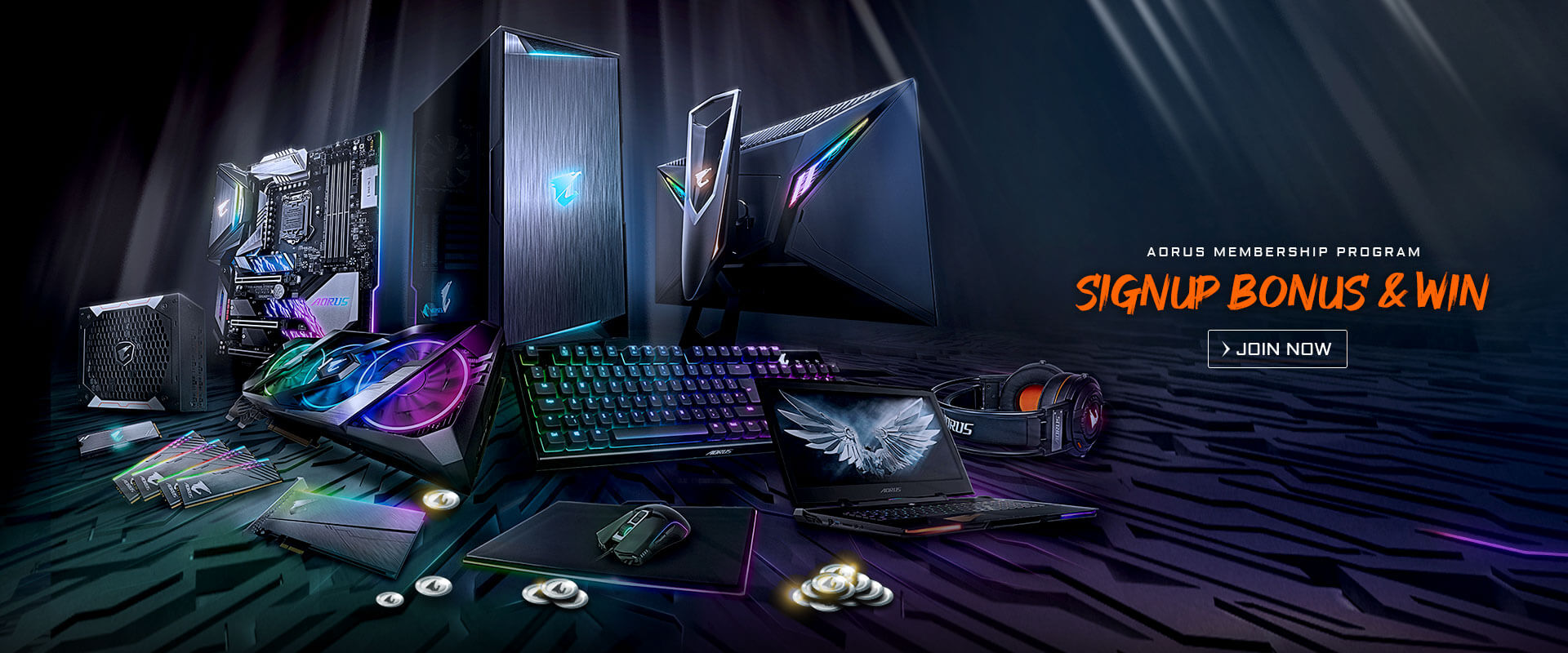 AORUS Membership Program - SIGNUP BONUS & WIN