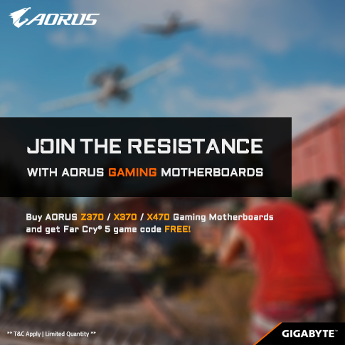 Buy AORUS/GIGABYTE Motherboards & Get Far Cry 5 FREE!