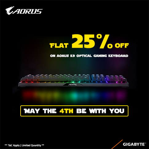 May the 4th be with AORUS K9!