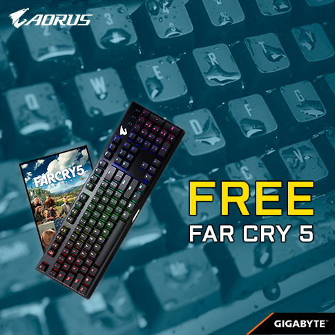 BUY AORUS K9 AND GET A COPY OF FAR CRY 5 FREE!
